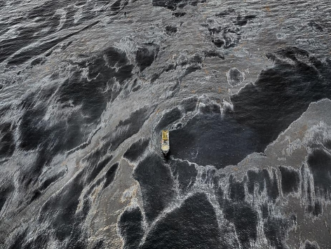 Oil Spill #1, REM Forza, Gulf of Mexico, May 11, 2010, chromogenic color print, 48 x 64 inches