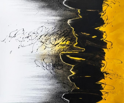 , Every Breaking Wave (2), 2014, acrylic and pen on canvas, 55.4 x 66.3 inches