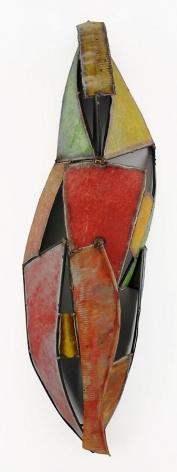 "Sari Kimono Suite II, 2008, Pure pigment on steel, 48 x 14 x 9.5"""