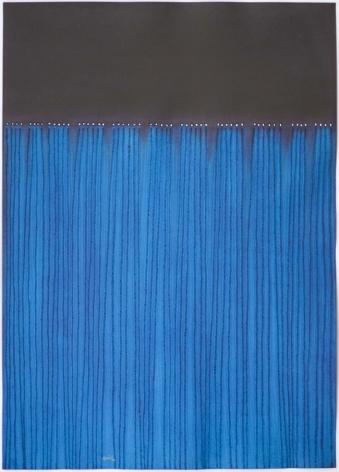 Sohan Qadri,Nitya, 2008, ink and dye on paper,55 x 39 inches/139.7 x 99.1 cm