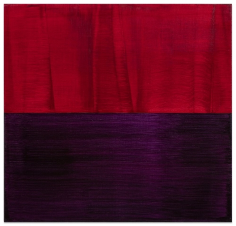 Red and Violet Blue 1, 2016, oil on linen,23 x 24 inches/58.4 x 61 cm