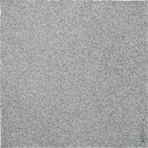 Zhang Yu, Fingerprints-2006.1-3, 2006, Xuan paper, ink and wash, 29.5 x 29.5 inches
