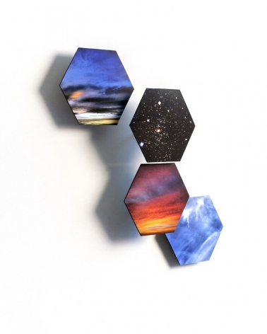 Sky Ride, 2013, inkjet on masonite, 23.5 x 22.5 x 4 inches