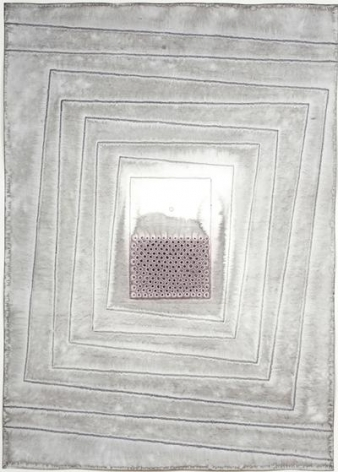 Sohan Qadri, Aloka IV, 2007, ink and dye on paper, 55 x 39 inches