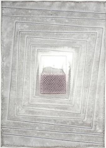 , Sohan Qadri, Aloka IV, 2007, ink and dye on paper, 55 x 39 inches