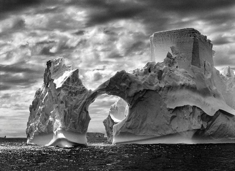 Iceberg Between Paulet Island and the South Shetland Islands in the Weddell Sea, Antarctic Peninsula, 2005, gelatin silver print, 24 x 35 inches/61 x 88.9 cm © Sebastião Salgado/Amazonas Images