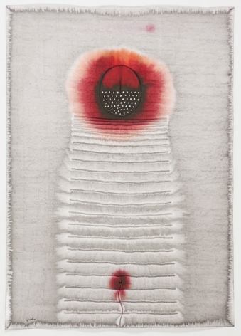 Amala VII, 2008, ink and dye on paper,55 x 39 inches/139.7 x 99.1 cm