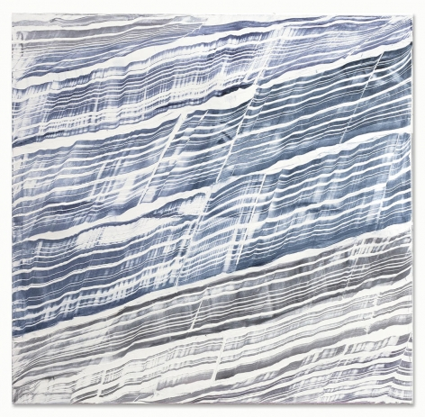 Ricardo Mazal,White with Blue Grey and Violet 2, 2018, oil on linen, 71 x 73 inches/ 180.3 x 185.4 cm