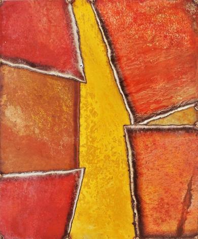 Mondasanda 2, 2011, pure pigment on steel, 24 x 20 inches