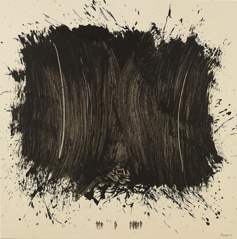 Chaouki Chamoun, The Apocolypse III, 2009, acrylic on canvas, 55 x 55 inches