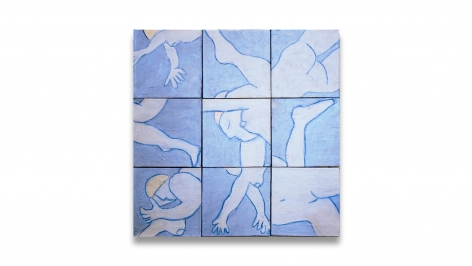 Swimmers, 2012, acrylic on canvas, 30 x 30 inches/76.2 x 76.2 cm