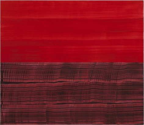 Red and Violet Red, 2016, oil on linen,71 x 82 inches/180.3 x 208.3 cm