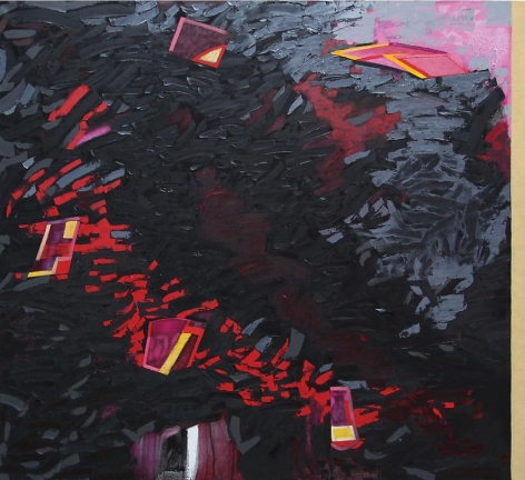 Marking Time, 2011, oil on linen, 40 x 44 inches
