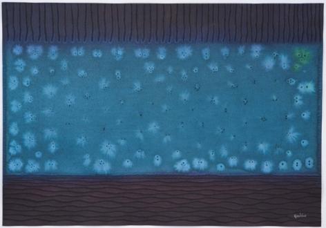 Sohan Qadri, Pranaya II, 2008, ink and dye on paper, 27 x 39 inches/68.5 x 99 cm