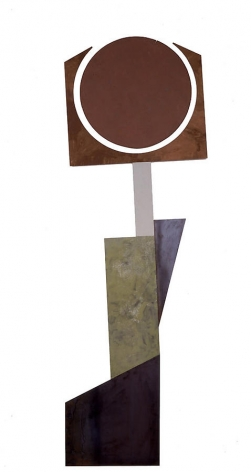 "Merrill Wagner,  Pod , 2006, Rust preventative paint on steel, 104.5 x 33.5"""