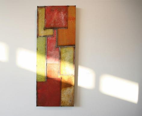 "Vertical Man III, 2006, Pure pigment on galvanized steel, 40x15"""