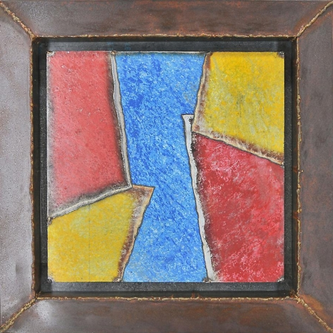 Nathan Slate Joseph, Suomo, 2011, pure pigment on steel, 28 x 28 inch