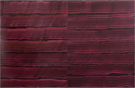 4 Los Angeles - Violet, 2016, oil on linen,83 x 128 inches/210.8 x 325.1 cm