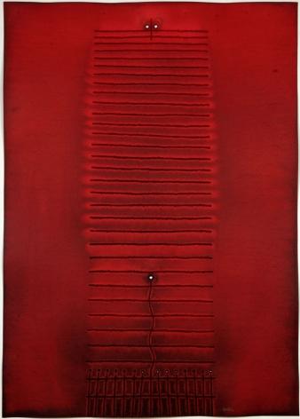 Sohan Qadri,Amrita IV, 2007, ink and dye on paper,55 x 39 inches/139.7 x 99.1 cm