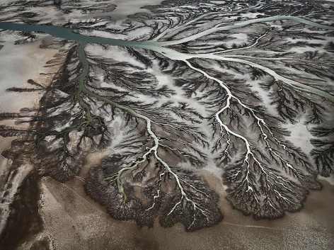 , Edward Burtynsky, Colorado River Delta #1, Near San Felipe, Baja, Mexico, 2012, Chromogenic color print, 48 x 64 inches