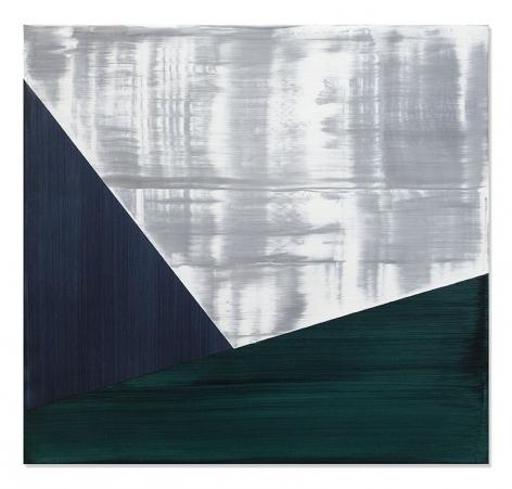 Ricardo Mazal, SP Black 8, 2019, oil on linen, 30 x 32 inches/76.2 x 81.3 cm