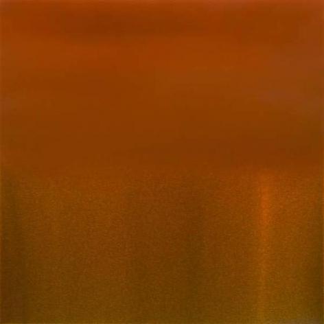 Miya Ando, Evanescent Vermillion, 2015, urethane, pigment, and resin on aluminum, alucore, 36 x 36 inches/91.5 x 91.5 cm