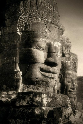 """Two Faces, The Bayon"", Archival Pigment Print, 40 x 80"""