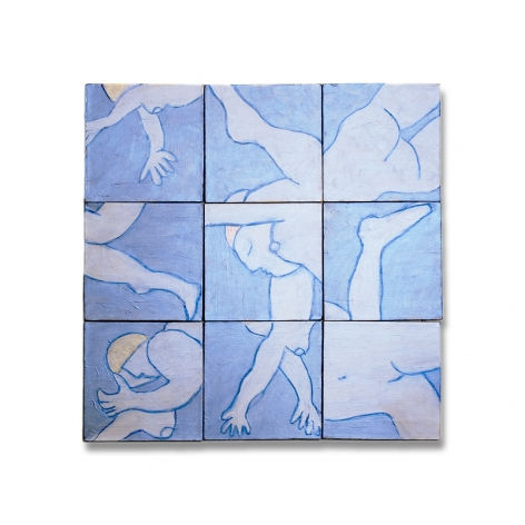 Susan Weil, Swimmers, 2012, acrylic on canvas, 30 x 30 inches/76.2 x 76.2 cm