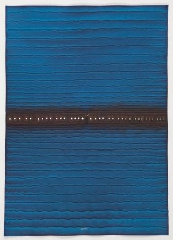 Sohan Qadri, Atlaya III, 2008, ink and dye on paper, 55 x 39 inches/139.7 x 99.1 cm