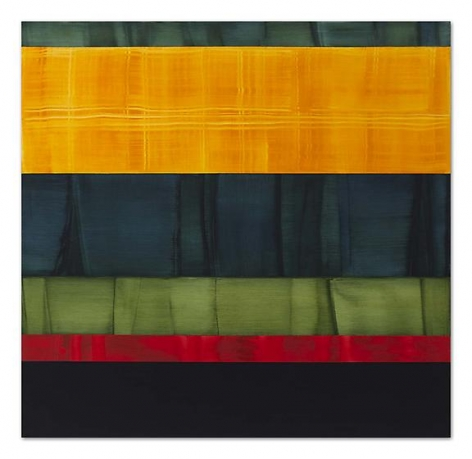 , Ricardo Mazal, Compositions in Greens 10, 2014, oil on linen, 71 x 73 inches
