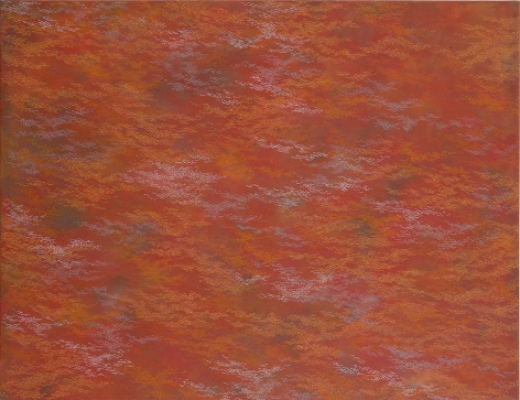 """Red Base, 2008, Acrylic on canvas, 48 x 63"""""""