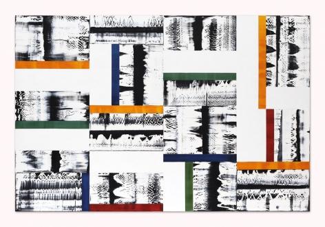 Ricardo Mazal, Composition in Yellow, Green, 2014, oil on linen, 63x 94.5inches/ 160x 240cm