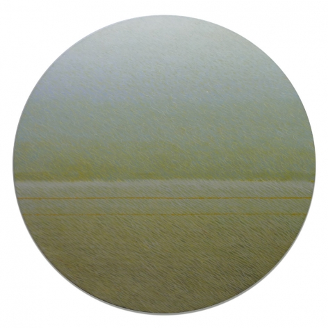 Before and After, 2010,oil on canvas,diameter: 60 inches/152.4 cm