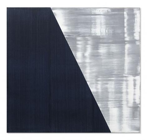 Ricardo Mazal, SP Black 9, 2019, oil on linen, 30 x 32 inches/76.2 x 81.3 cm
