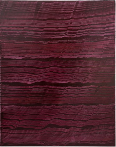 Vertical Violet, 2016, oil on linen,70 x 55 inches/177.8x 139.7cm