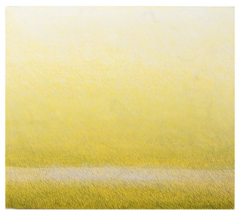 Vanishing at Eye Level, 2003,oil on canvas,22 x 25 inches/55.9 x 63.5 cm