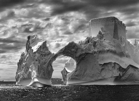 Iceberg between Paulet Island and the South Shetland Islands in the Weddell Sea, Antarctic Peninsula, 2005, gelatin silver print, 36 x 50 inches/92 x 127 cm