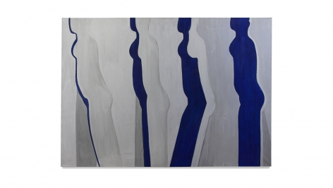Walking Figure, 1969, acrylic on linen, 51 x 72 inches/129.5 x 182.9 cm