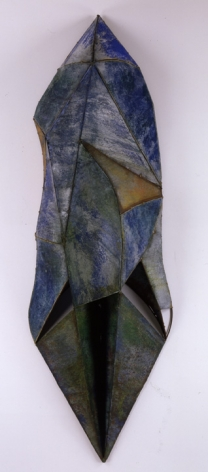 Nathan Slate Joseph, The Dream at Mangalam, 2006, Pure pigment on galvanized steel, 98 x 32 x 17""