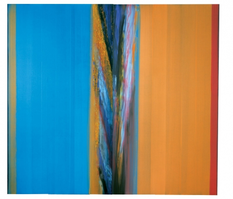 At Pondichery, 2008, acrylic on linen, 94.5 x 103inches/240 x 261.6 cm