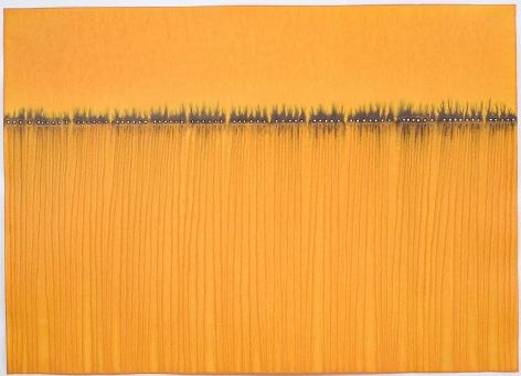 "Sohan Qadri,  Purusha VI , 2008, Ink and dye on paper, 39 x 55"""