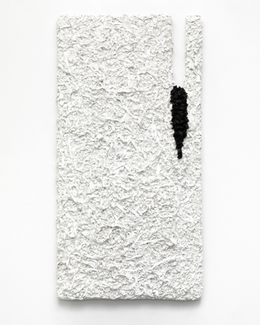 It Is as It Is, Wall series #6, 2019, acrylic paint and canvas on wood, 48.4 x 25 x 2.4 inches/123 x 64 x 6 cm