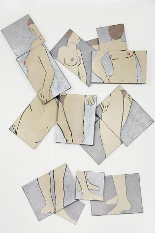 """Orbit, 2008 Acrylic on canvas 77 x 58 x 2.5"""""""