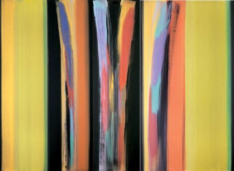 "Vittorio Matino,  Rama's Yellow , Acrylic on linen, 94.5 x 128.75"""