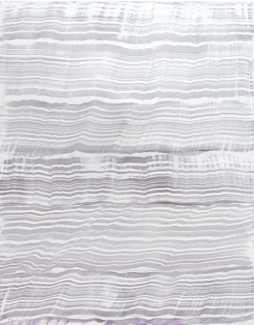 Vertical White over Violet, 2016, oil on linen,70 x 55 inches/177.8x 139.7cm