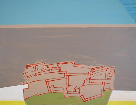 tangent bouquet, 2009, acrylic on panel, 16.5 x 21.5 inches
