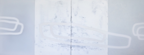 Udo Nöger, Carriage, 2016, mixed media on canvas, 75 x 192 inches/190.5 x 487.7 cm