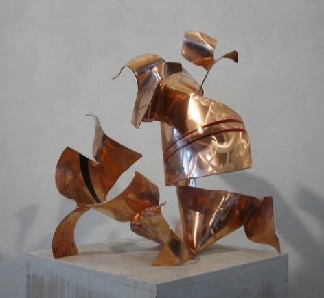 Fré Ilgen, Autotunage, 2011, red copper, industrial paint, 24 x 22 1/2 x 19 3/4 inches/61 x 57.2 x 50.2 cm