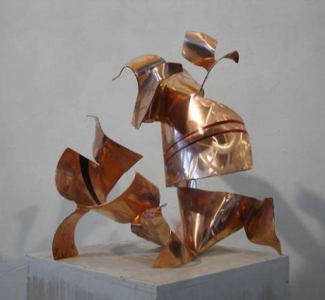 , Fré Ilgen, Autotunage, 2011, red copper, industrial paint, 24 x 22 1/2 x 19 3/4 inches/61 x 57.2 x 50.2 cm