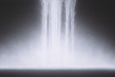 Waterfall, 2012, natural, acrylic pigments on Japanese mulberry paper, 51 .3 x 76.3 inches